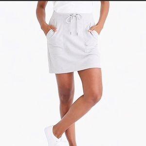 J Crew Factory Grey Terrycloth Mini Skirt